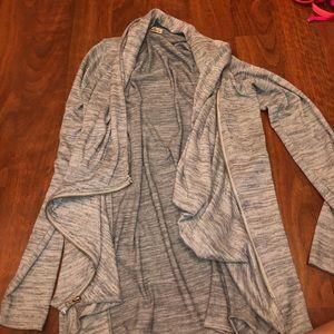 Hollister zip-up soft jacket/cardigan